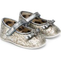 Roberto Cavalli Junior Sapato Infantil Metalizado - Prateado