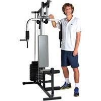 Estação De Musculação Guga Kuerten Gk2000 Com 25 Opções De Exercícios - Preto/ Cinza