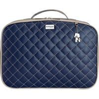 Mala De Mão Dublin - Azul Marinho & Bege- 35X37X7Cm Batistela
