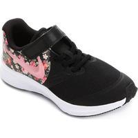 Tênis Infantil Nike Star Runner 2 Floral Feminino - Feminino-Preto+Pink