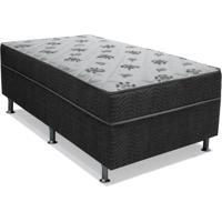 Cama Box Solteiro Conjugada Dream Molas Nanolastic (43X88X188) Cinza
