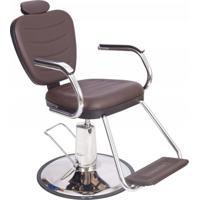 Poltrona Cadeira Barbeiro Reclinável Hidráulica Dompel