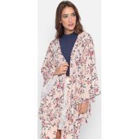 Kaftan Floral - Rosa & Azul- My Favorite Thingsmy Favorite Things