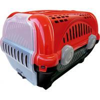 Caixa De Transporte Para Pets Luxo 30,5X34,5Cm Vermelha