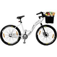 Bicicleta Master Bike Aro 26 Urbis Freio Á Disco 3 V Nexus C/ Cesta - Unissex