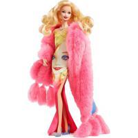 Boneca Barbie Colecionável - Andy Warhol - Vestido Estampado - Mattel