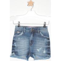 Short Jeans Com Destroyed- Azulcolcci