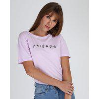 Blusa Feminina Friends Manga Curta Decote Redondo Lilás