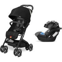 Carrinho De Bebê Qbit+ Gb Com Bebê Conforto Aton 5 Preto