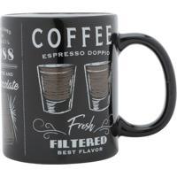 "Caneca ""Coffee""- Preta & Branca- 320Ml- Urbanurban"