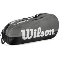 Raqueteira Wilson Esportiva Team Ii 3 Pack Cinza/Preta