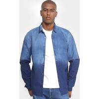f907a31c2 Ir para a loja Netshoes Netshoes; Camisa Jeans Calvin Klein Degrade  Masculina - Masculino