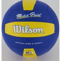 Bola Wilson Vôlei Matchpoint Azul E Amarela