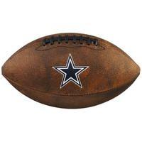 Bola De Futebol Americano Nfl Jr Throwback Team Dallas Cowboys Preto