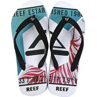 Chinelo Reef Switchfoot Leaves Masculino - Masculino