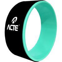 Magic Wheel Para Yoga E Pilates- Preto & Verde- Ø32Cacte