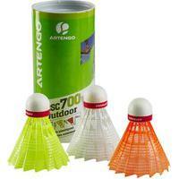 Peteca De Badminton Outdoor (Tubo X3) - Artengo Outdoor Shuttles X3, .
