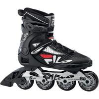 Patins Fila Skates Inline Legacy Pro 80 Rolamento Abec 5 - Unissex