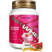 Kit Whey 907 G +Tasty Barra Chocolate P/ Butter 51G - Unissex