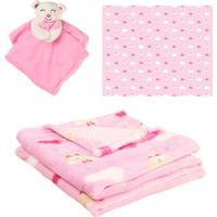 Manta Com Naninha Para Bebê - Princesa Rosa - Unik Toys - Kanui