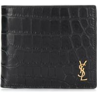 Saint Laurent Carteira Monogramada East/West Mini - Preto