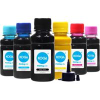 Kit 6 Tintas Bulk Ink Sublimática Para Epson T673 Cmyk 100Ml Koga