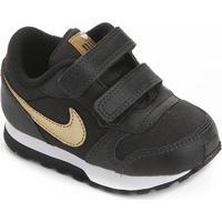 Tênis Infantil Nike Md Runner 2 Vtb Tdv Feminino - Feminino-Preto+Prata