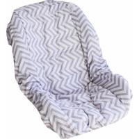 Capa Bebê Conforto Laura Baby Chevron Rosa