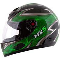 Capacete Mixs Mx5 - Preto/Verde