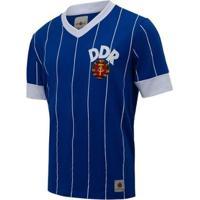 Camisa Alemanha Retrô Oriental Ddr 1974 Masculina - Masculino-Azul