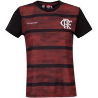 Camiseta Do Flamengo Proud - Feminina - Preto/Vermelho