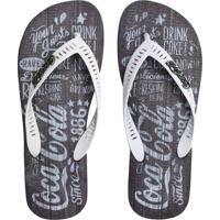 Chinelo Coca Cola Shoes Estampa Branco