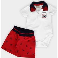 Conjunto Infantil Milon Body + Short Bebê Masculino - Masculino