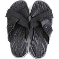 Chinelo Couro West Coast Carmel Sandals Masculino - Masculino-Preto