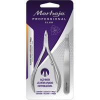 Conjunto - Merheje - Alicate Para Cutículas Pro + Pinça - Prata
