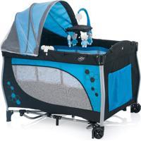 Berço Desmontável Balanço- Preto & Azul- 78X110X77Cmbaby Style