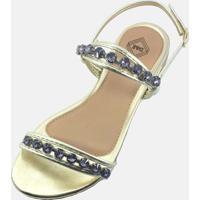 Sandália Rasteirinha Tendência Modelo Moda Estilosa Flats Dourado
