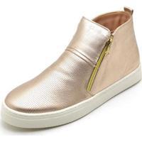 Bota Top Franca Shoes Hiate Word Feminino - Feminino-Rosa