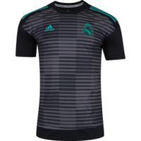 Camisa Pré-Jogo Real Madrid 17 18 Adidas - Masculina - Preto Cinza 4e218ae1c7281