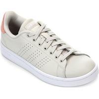 Tênis Adidas Advantage Feminino - Feminino-Branco+Pink