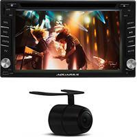 Dvd Player Aquarius Mtc 6603 2 Din Tv Gps Usb Sd Aux Dvd Touch + Câmera De Ré