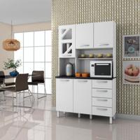 Cozinha Compacta Infinity 5 Pt 4 Gv Branco Brilho