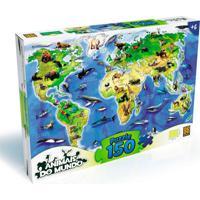 Puzzle 150 Peças Animais Do Mundo - Grow - Kanui