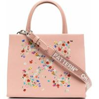 Off-White Floral Arrows-Motif Tote Bag - Rosa
