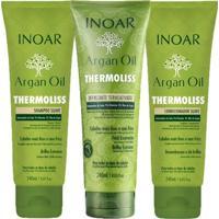 Kit Shampoo + Condicionador + Balsamo Inoar Argan Oil Thermoliss Kit - Unissex-Incolor
