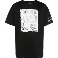 Haculla Notebook Drop-Shoulder T-Shirt - Preto