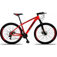 Bicicleta Xlt Aro 29 Freio A Disco Suspensão 21 Marchas Quadro 19 Alumínio Vermelho Preto - Ksw