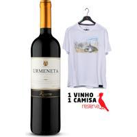 Vinhos Urmeneta Reserva Cabernet Sauvignon 2018 + Camiseta Lilás Aquarela Chile Ggg
