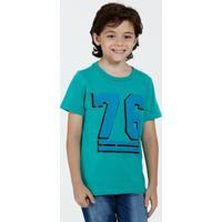 Camiseta Infantil Manga Curta Estampa Frontal Marisa