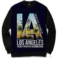 Blusa Bsc Los Angeles Full Print - Masculino-Preto